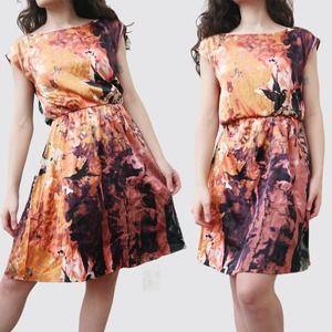 Alice & Olivia Silk Satin Blouson Dress